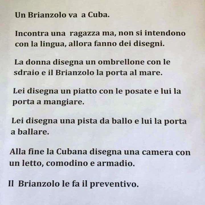 Il brianzolo a Cuba