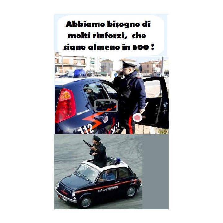 Carabinieri in 500