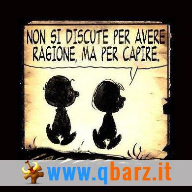 Non si discute per avere ragione, ma per capire (Charlie Brown)