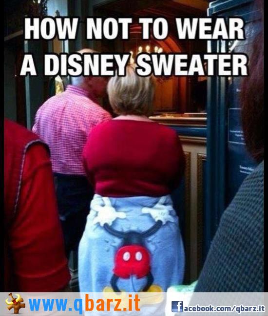 Attenzione ad indossare felpe Disney