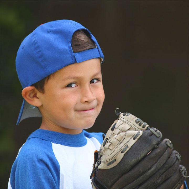 Mazza e guantone da baseball