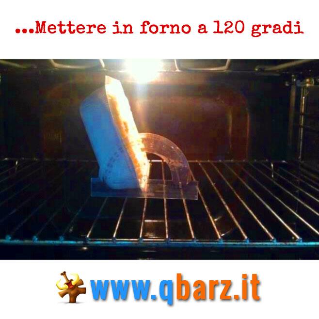 Mettere in forno a 120 gradi