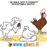 Gallina sospetta fa le uova di Pasqua