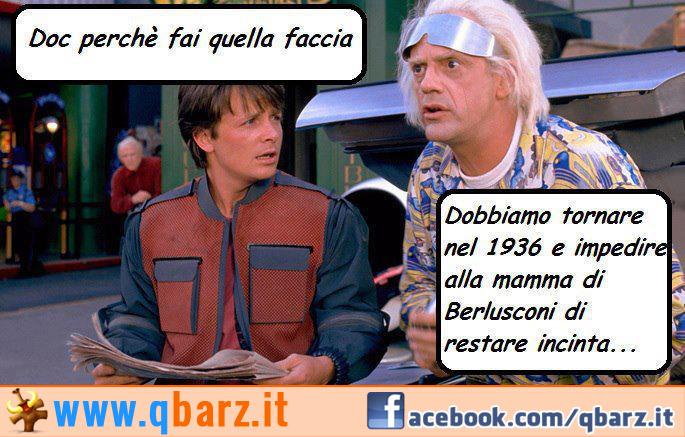 Ritorno al Futuro - Doc spiega che devono impedire alla mamma di Berlusconi di restare incinta