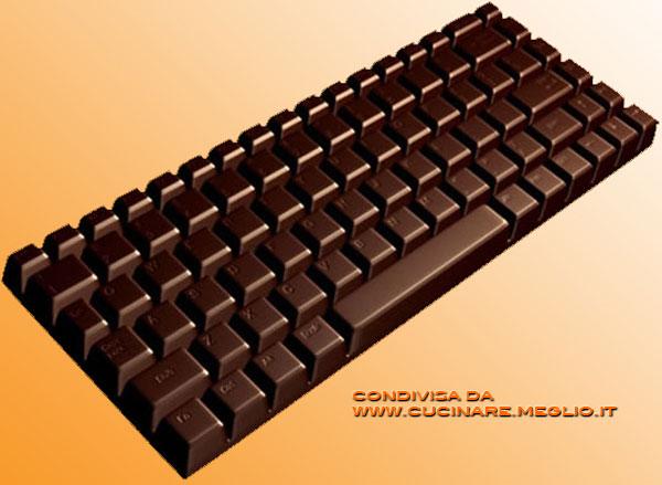 Tastiera di cioccolato