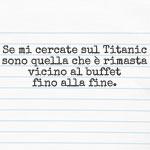 Il buffet del Titanic