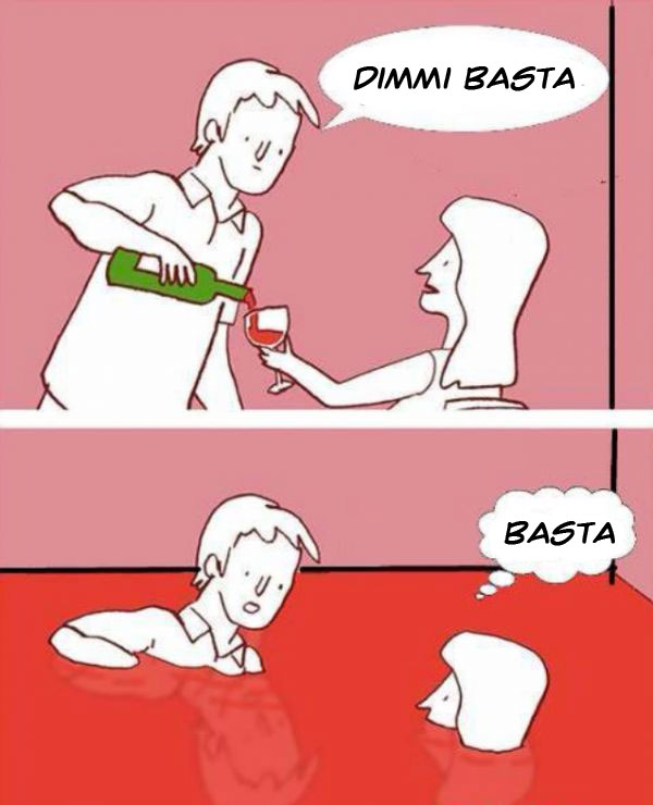 Versare il vino a una donna