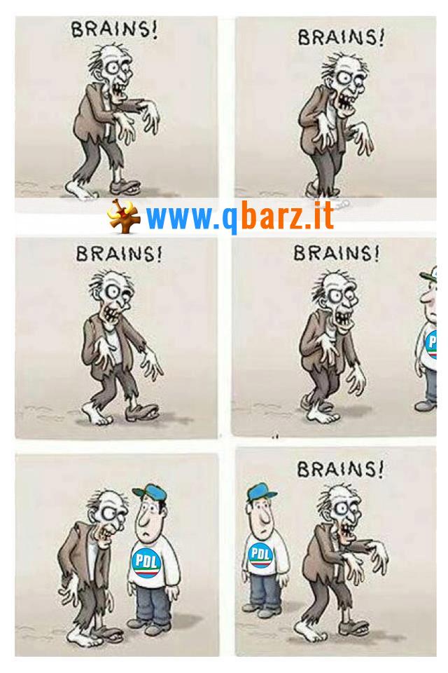 Zombie alla ricerca di cervelli veri scansa chi ha votato PDL