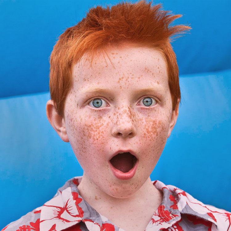 Un figlio con i capelli rossi