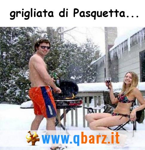 Grigliata di Pasquetta... sotto la neve