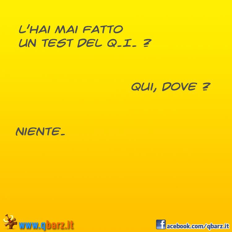 Test d'intelligenza QI